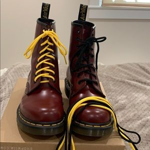 Dr Martens 46 Cherry Red Black And